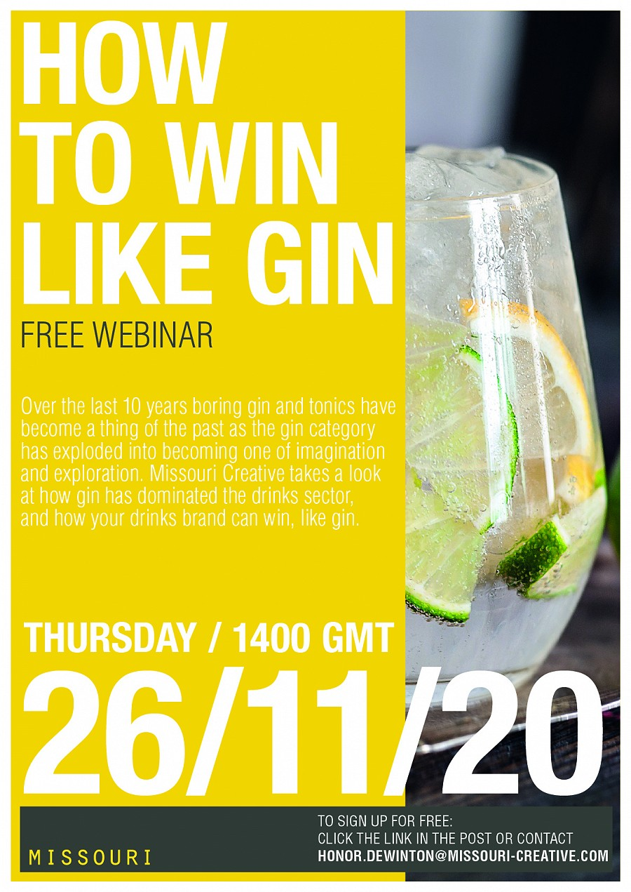 Join us on 26th November for HOW TO WIN LIKE GIN
