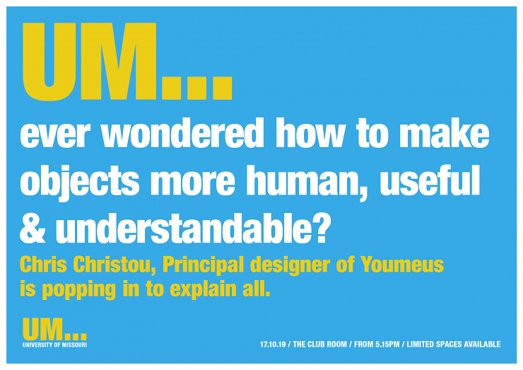 UM...ever wondered how to make objects more human, useful & understandable?